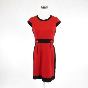 Calvin Klein red cap sleeve sheath dress 6